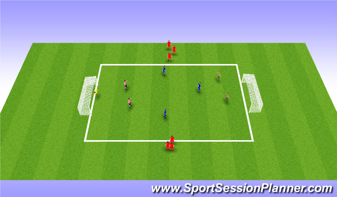 Football/Soccer Session Plan Drill (Colour): Indiana