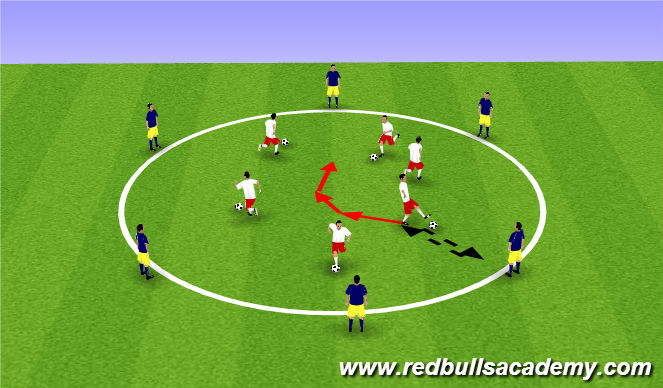 Football/Soccer Session Plan Drill (Colour): Passing Circle Warm Up