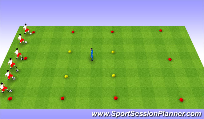 Football/Soccer Session Plan Drill (Colour): Blob