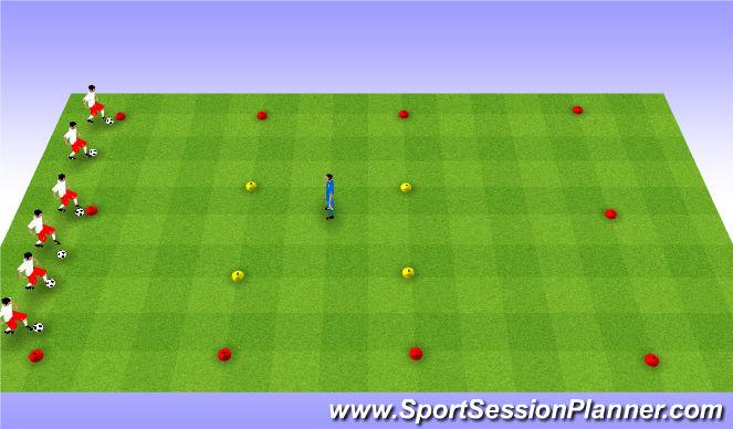 Football/Soccer Session Plan Drill (Colour): Blob