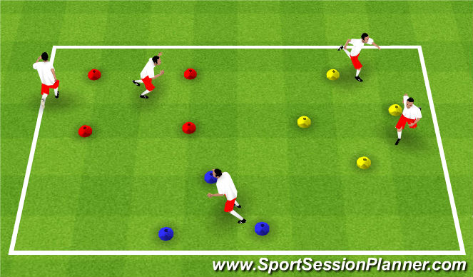 Football/Soccer Session Plan Drill (Colour): TRIANGLES SQUARES DIAMONDS