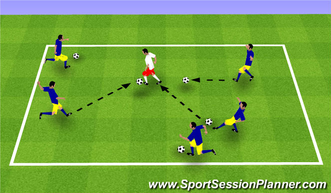 Football/Soccer Session Plan Drill (Colour): OUCH