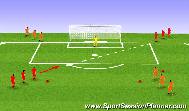 Football/Soccer Session Plan Drill (Colour): Worlds Best Shooting Game
