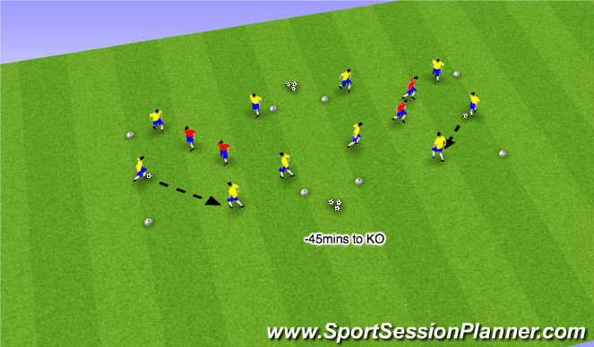 Football/Soccer Session Plan Drill (Colour): Part I - Rondo Squares (8mins)