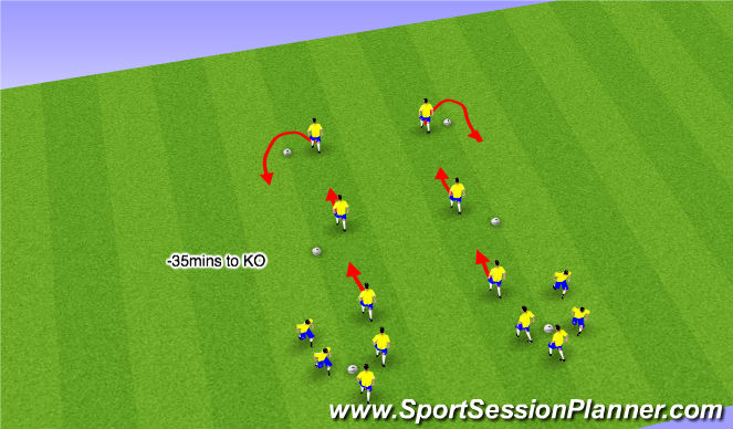 Football/Soccer Session Plan Drill (Colour): Part II - FIFA 11 Dynamics (10mins)