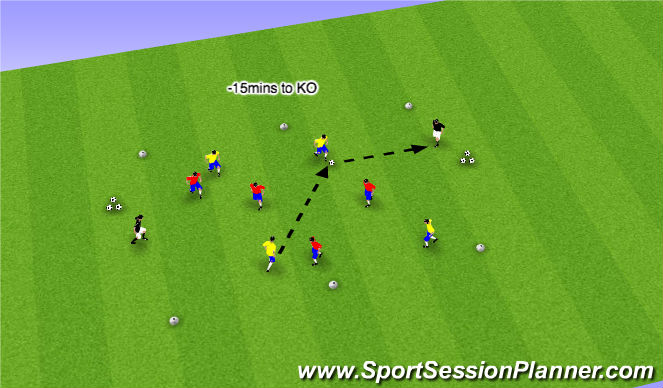 Football/Soccer Session Plan Drill (Colour): Part IV - Possession Game (8mins)