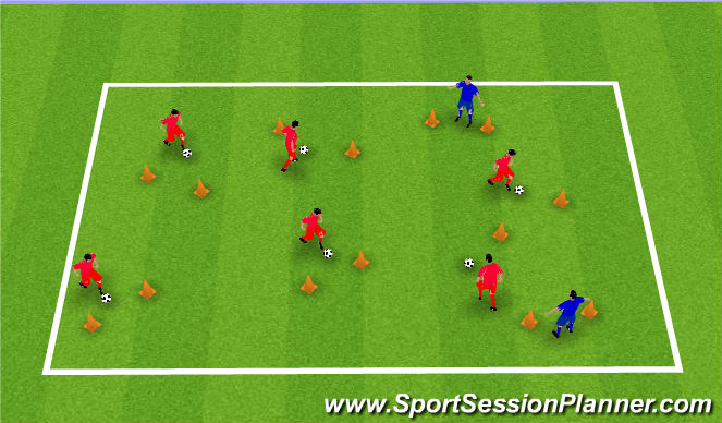 Football/Soccer Session Plan Drill (Colour): Beware the Gatekeeper