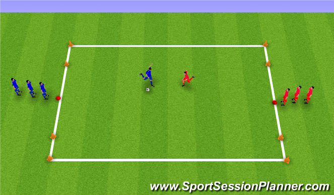 Football/Soccer Session Plan Drill (Colour): Shooting Numbers Game
