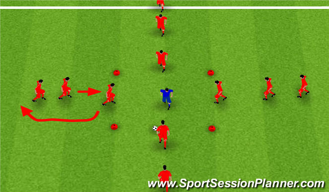 Football/Soccer Session Plan Drill (Colour): Rondo 4 v 1