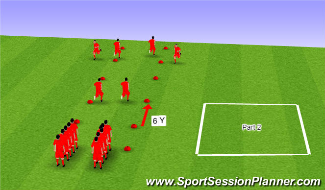 Football/Soccer Session Plan Drill (Colour): FIFA 11+ - Possible Warm-up