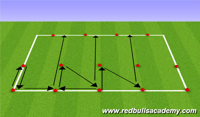 Football/Soccer Session Plan Drill (Colour): Multi-directional Speed