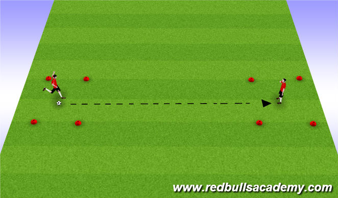Football/Soccer Session Plan Drill (Colour): Low Driven Pass