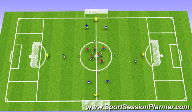 Football/Soccer Session Plan Drill (Colour): Team Attack