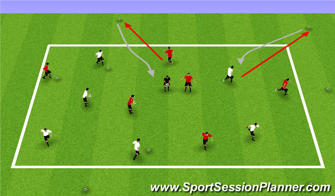 Football/Soccer Session Plan Drill (Colour): Planet Saver