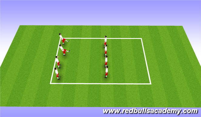 Football/Soccer Session Plan Drill (Colour): Dynamic strechting