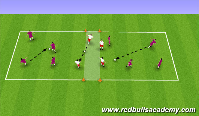 Football/Soccer Session Plan Drill (Colour): Pass and Move 2