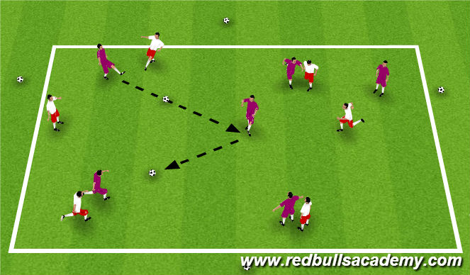 Football/Soccer Session Plan Drill (Colour): Warm Up - Keep Away.