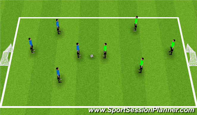 Football/Soccer Session Plan Drill (Colour): King's Court With Focus on Movement