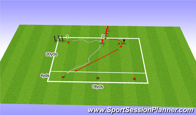 Football/Soccer Session Plan Drill (Colour): Stop & Starts - Coerver