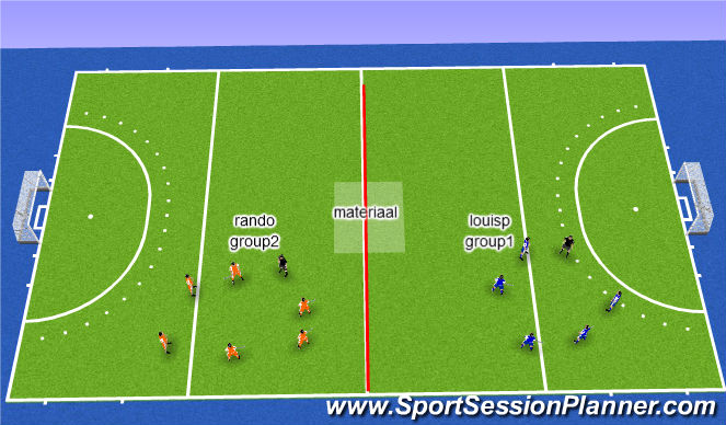 Hockey Session Plan Drill (Colour): welcome: uitleg hockey