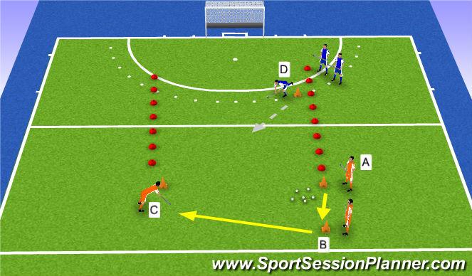 Hockey Session Plan Drill (Colour): exercise3: game skills