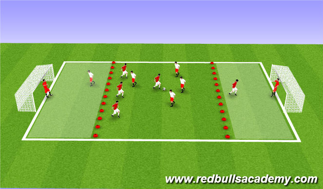 Football/Soccer Session Plan Drill (Colour): SSG (Fully Opposed)