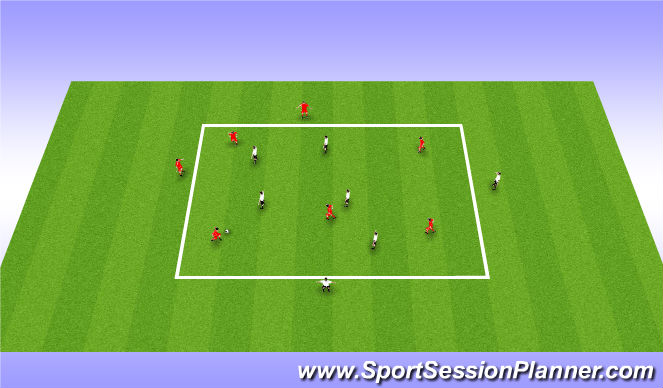Football/Soccer Session Plan Drill (Colour): Possession w/move