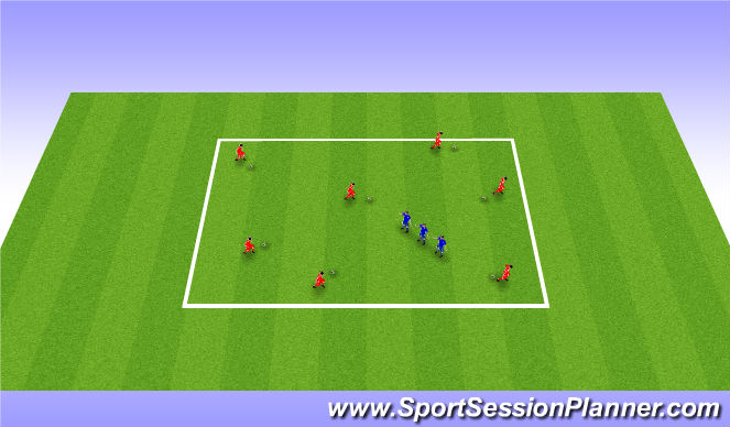 Football/Soccer Session Plan Drill (Colour): Snake