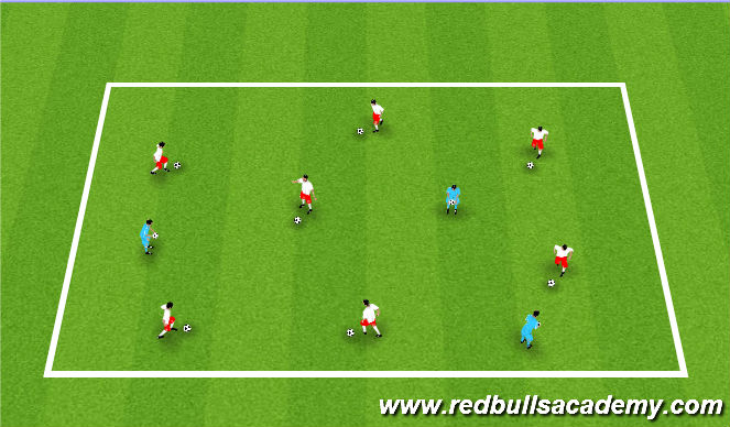 Football/Soccer Session Plan Drill (Colour): Markle Kings