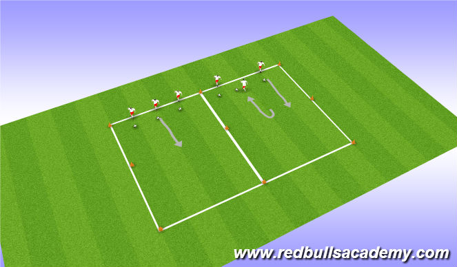 Football/Soccer Session Plan Drill (Colour): Technical Developmental Repetitions