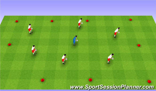 Football/Soccer Session Plan Drill (Colour): Copycat