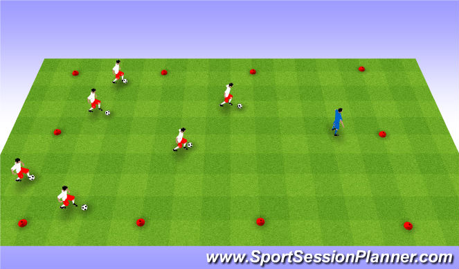 Football/Soccer Session Plan Drill (Colour): What time is it Mr. Wolf