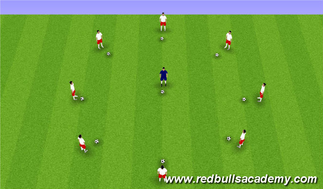 Football/Soccer Session Plan Drill (Colour): Music - Ball Mastery