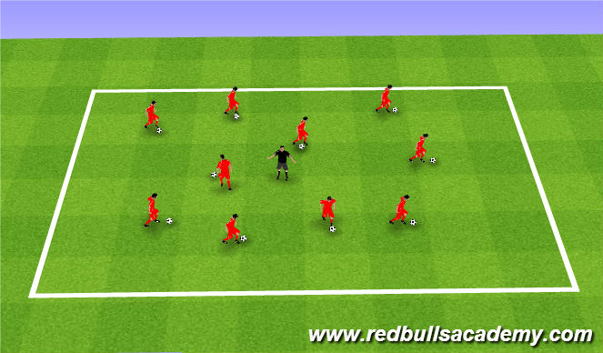 Football/Soccer Session Plan Drill (Colour): Yellow Jacket Tag