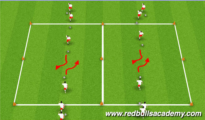 Football/Soccer Session Plan Drill (Colour): Main Theme IV