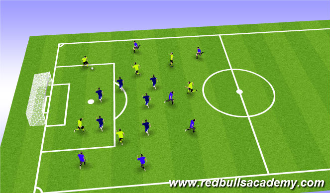 Football/Soccer Session Plan Drill (Colour): Posession Game