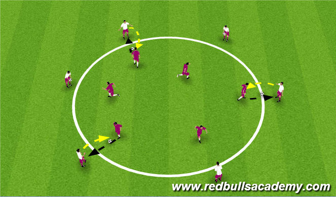 Football/Soccer Session Plan Drill (Colour): Aerial Control Warm Up
