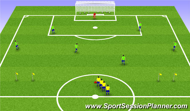 Football/Soccer Session Plan Drill (Colour): Sm Sided Activity