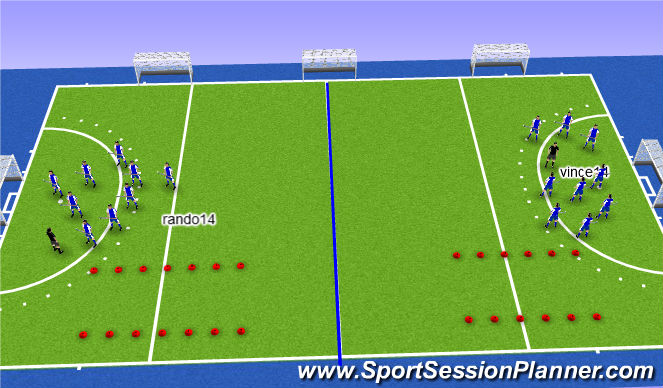Hockey Session Plan Drill (Colour): opzet