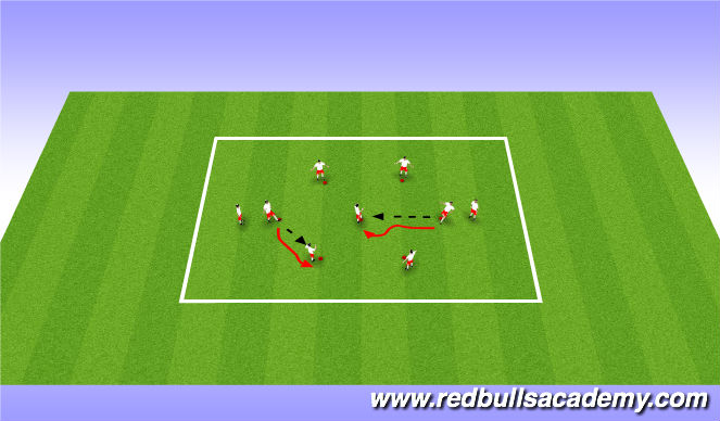 Football/Soccer Session Plan Drill (Colour): Passing Warm-up