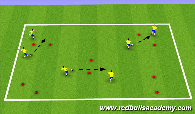 Football/Soccer Session Plan Drill (Colour): Warm Up-Technical