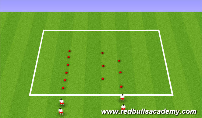 Football/Soccer Session Plan Drill (Colour): SAQ Scissors and Stepover
