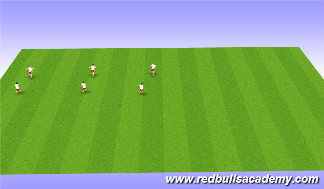Football/Soccer Session Plan Drill (Colour): Warm Up: Technnique