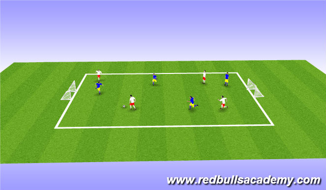 Football/Soccer Session Plan Drill (Colour): Match: 4v4