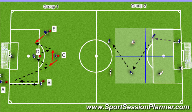 Football/Soccer Session Plan Drill (Colour): Group Combo's