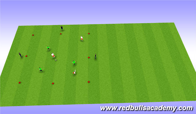 Football/Soccer Session Plan Drill (Colour): Main Theme 2: 6v3