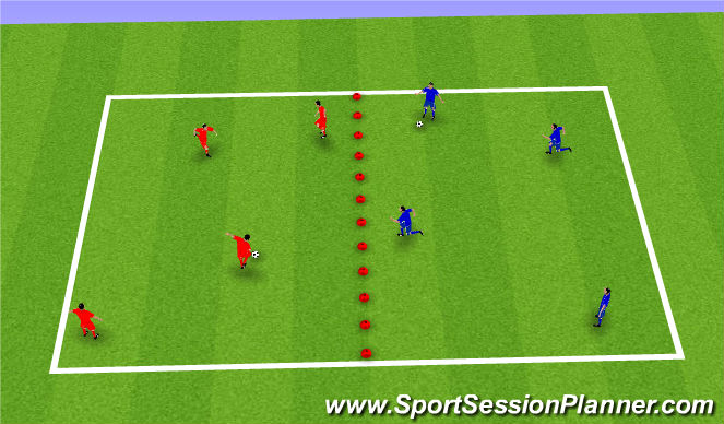 Football/Soccer Session Plan Drill (Colour): Competitive keep ball