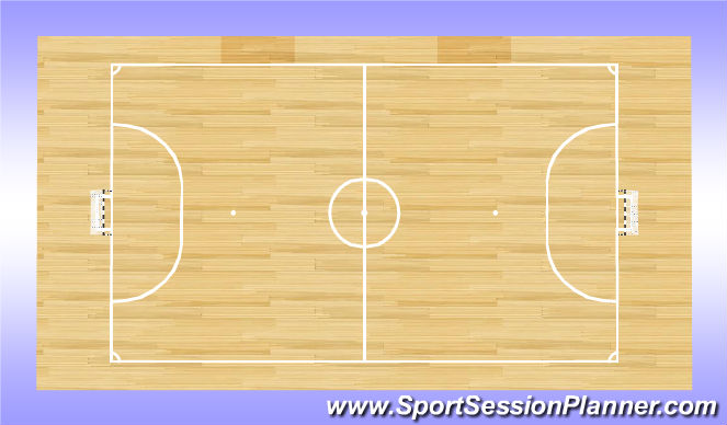 Futsal Session Plan Drill (Colour): Gym
