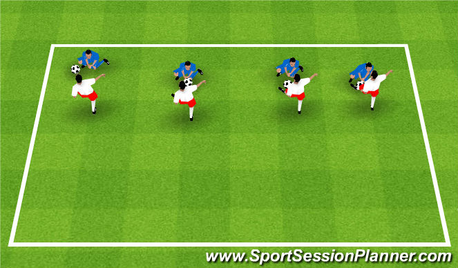 Football/Soccer Session Plan Drill (Colour): Fundamental stage