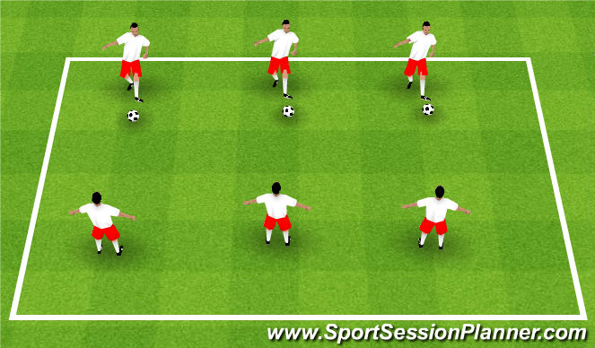 Football/Soccer Session Plan Drill (Colour): Push Pass Progression 1